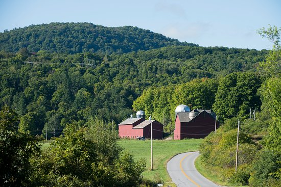 Brandon, VT: Two historic barns.