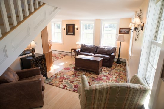 Brandon, VT: The living area. The Nest is about 900 square feet.