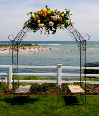 Terrace by the Sea: For the wedding ceremony