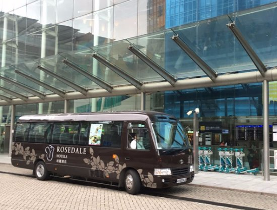Rosedale Hotel Hong Kong: Complimentary Downtown Scheduled Bus to Wanchai and Hong Kong Station