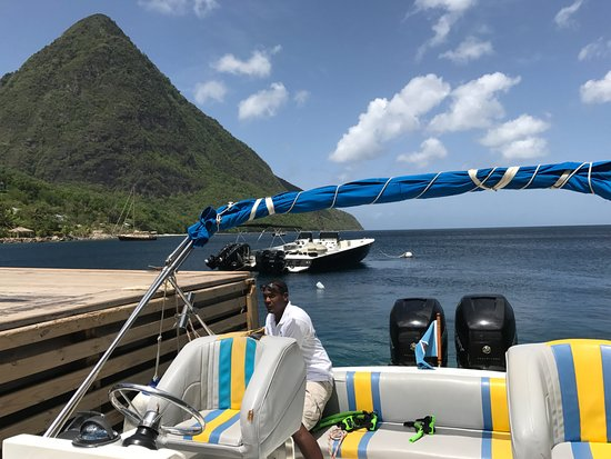 Exodus Boat Charters: Gros Piton from Sugar Beach