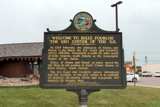 Belle Fourche, Dakota del Sur: Outside the Geographic Center Visitor Center