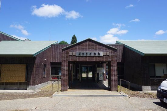 Okuaizu Museum : 博物館正面玄関。大人1名の入場料は300円。