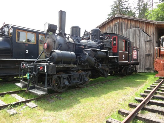 Duncan, Canada: One of the old steam engines at BC Forest Discovery Centre