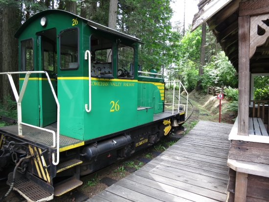 Duncan, Canada: The engine that pulls the narrow gauge train for rides through the Discovery Centre.