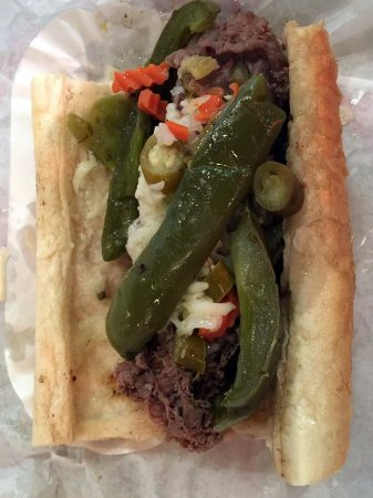 Northlake, IL: beef with sweet peppers and giardiniera