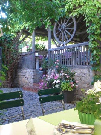 Sulzfeld am Main, Alemania: gemütliche Terrasse im Hintergarten