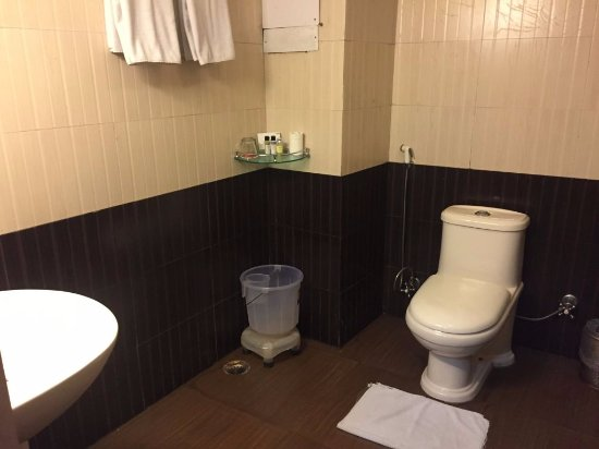 Summit Yashshree Suites and Spa: dated amenities in bathroom