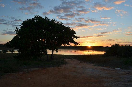 Vilanculos, Mosambik: sunset at the lake