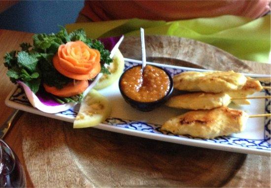 Jette, Bélgica: Chicken brochettes