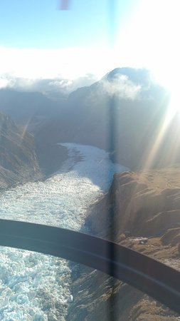 Fox Glacier, New Zealand: From the copter
