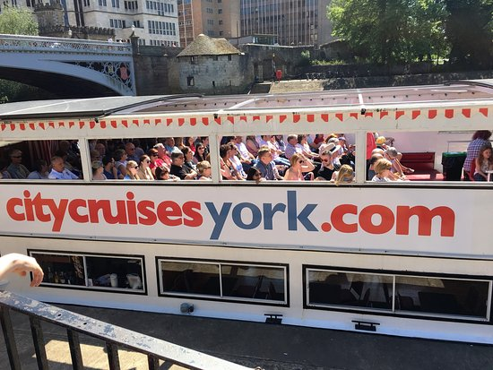 City Cruises York: Captain James Cook with a busy upper deck