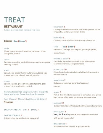 Morganton, NC: New menu