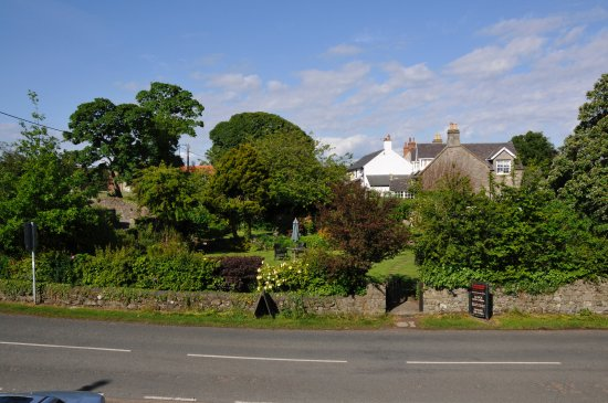 Embleton, UK: View to the garden over the road