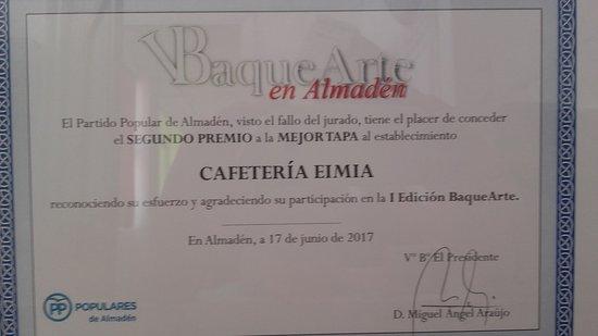 Almaden, Spain: 1 Concurso de tapas Baquearte Almadén