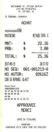 Saint-Zotique, كندا: $25.36 avec pourboire