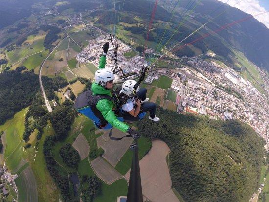 Brunico, Ιταλία: Gestartet am Kronplatz, Blick auf Bruneck