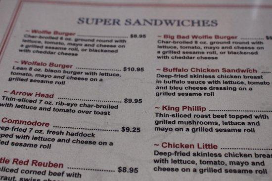 South Deerfield, MA: Some of the menu.
