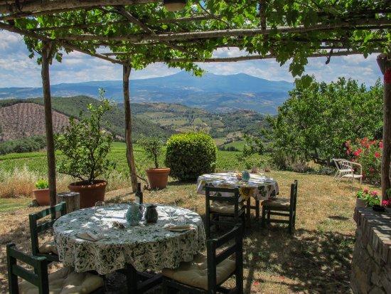 Montalcino, إيطاليا: Tasting table at La Magia winery