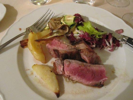 Vagliagli, Italy: A Tuscan steak just the way I like it.