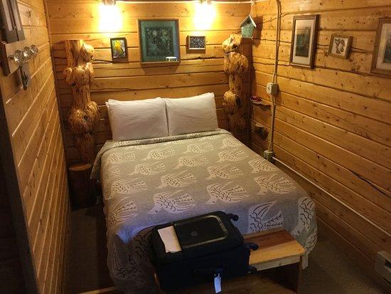 EarthSong Lodge - Denali's Natural Retreat: Pine paneled walls throughout.