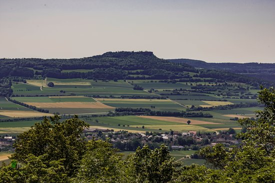 Bad Staffelstein, เยอรมนี: View from the terrace back towards the Staffelberg