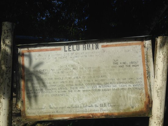 Lelu Island: The sign at the entrance of Lelu Ruin (It is difficult to find the entrance)