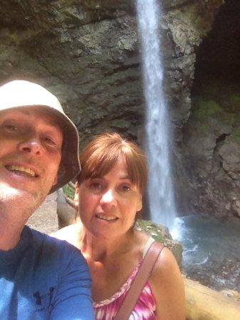 Seythenex, France : falls at grotte cascade