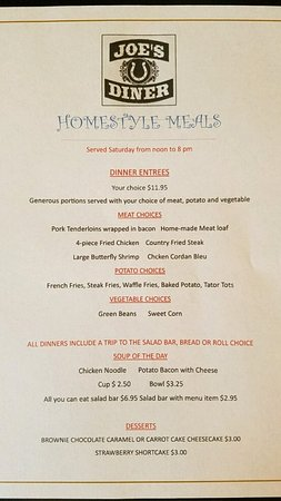 Lyndon Station, WI: Friday menu