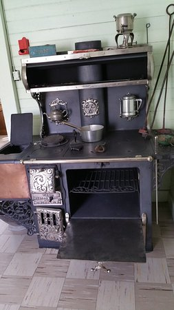 Kootenai Brown Pioneer Village: Modern cooker.
