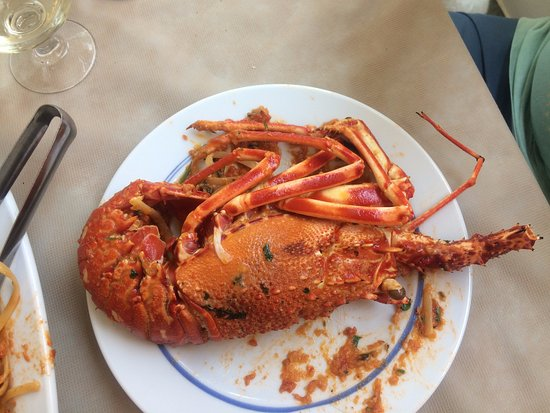 Faros, Grecia: fresh lobster pasta