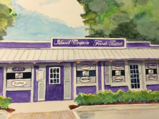 Painting of Island Creperie , 127 Bridge Street, Bradenton