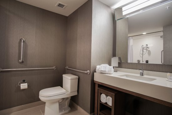 Courtyard Marriott Lenox Berkshires: Handicap Accessible Bathroom With  Roll In Shower