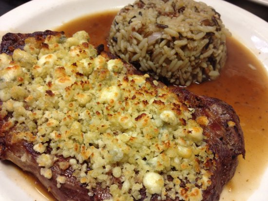 Fair Haven, MI : Bleu Cheese Encrusted Ribeye!
