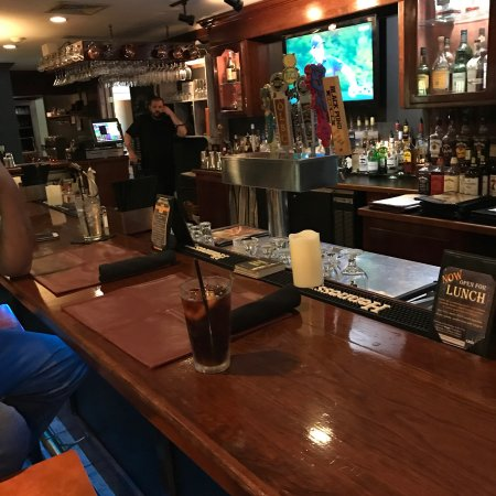 Pomfret, CT: There's a nice atmosphere at Grill 37 for relaxing and enjoying a fine meal.
