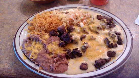 Mesilla, Nuevo Mexico: Beef enchiladas