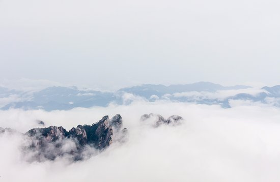 Mt. Huangshan (Yellow Mountain): Huangshan is best enjoyed on a cloudy day, with low hanging clouds.