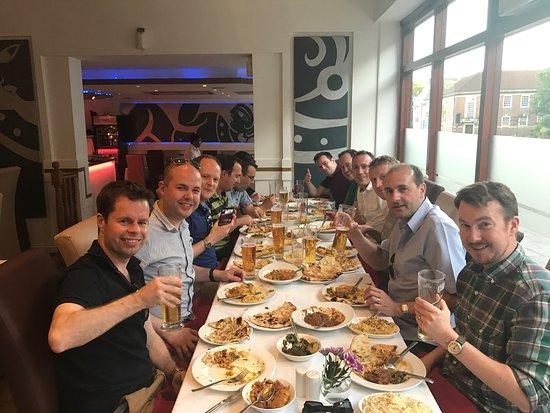 High Wycombe, UK: Some loyal customers having dinner