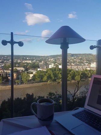 Filini: view over the river mtkvari
