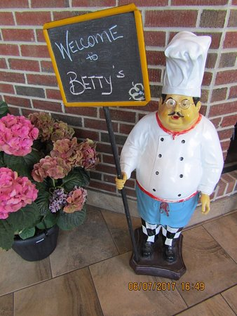 Betty's Restaurant 'welcomer'