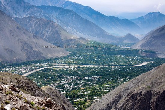 A view of Chitral town