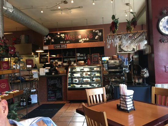 Magnolia's Deli & Cafe : Take out counter and dessert case