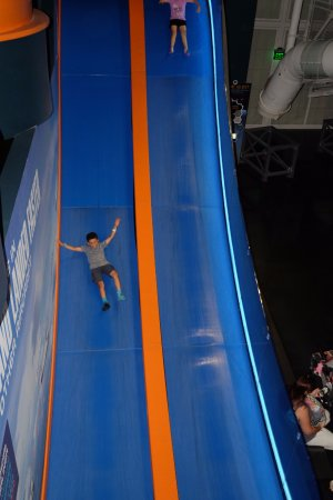 Merritt Island, FL: The slide is so much fun, kids or adults will have fun with it.