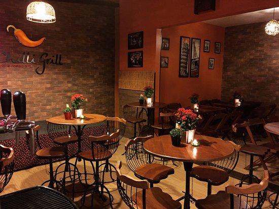 Decoraç u00e3o Dia dos namorados 12 06 2017 Foto de Chilli Grill Bar e Restaurante, Uberl u00e2ndia  -> Decoração De Restaurante Para Dia Dos Namorados