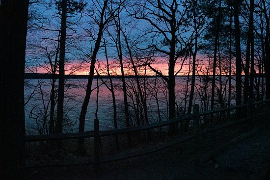 Gaylord, MI: Sunset across lake