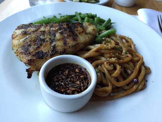The House: Grilled Sea Bass with Garlic Ginger Soy