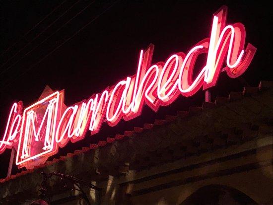 Le Marrakech: outside sign