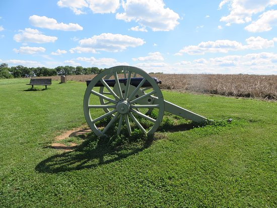 Spring Hill Self-Guided Battlefield Driving Tour: Top of the hill as it appears today. Woods where Fed Troops were located are gone.