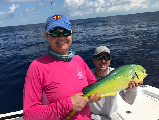 Last Cast Charters: Mahi Mahi targeted today. Out early, floating log, homerun. Deep dropped-Blue Line Tilefish. Ano