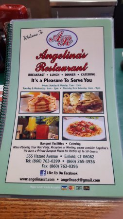 Enfield, CT: Menu Cover
